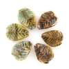Lamp Bead Leaf 6Pc 22.5x14.5mm Spring Green